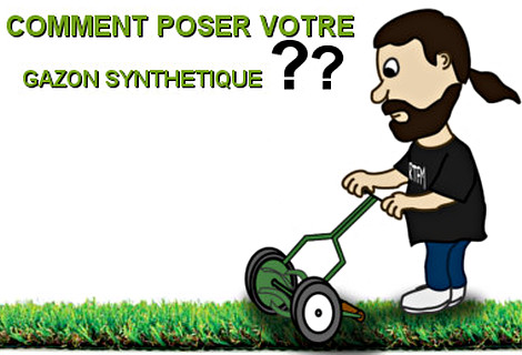 La pose du gazon synth tique - Sable pour gazon synthetique ...